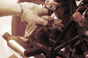 motorcycle having oil changed