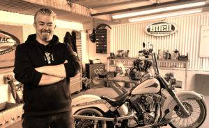 owner simon standing in workshop